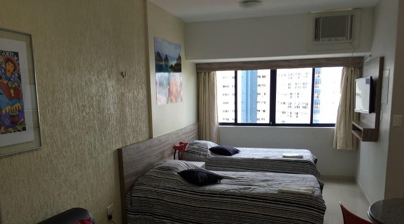 img-quarto-com-dupla-cama-de-solteiro-do-flat-studio-everest-alugamos-por-temporada